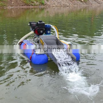 Small scale gold mining equipment Mini Gold Dredging Boat
