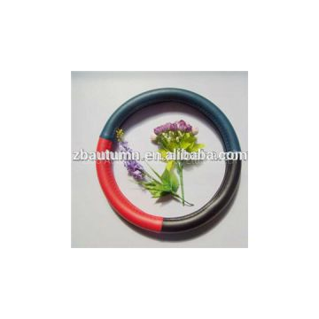 Red And Blue Micro Fiber Steering Wheel Cover