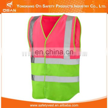 Hi vis green safety vests with a pocket for men
