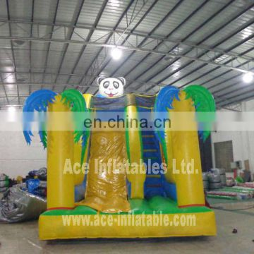 commercial grade tropic panda inflatable slide