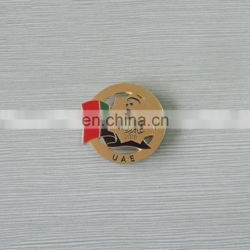 custom zayed logo and national flag lapel pin for souvenir