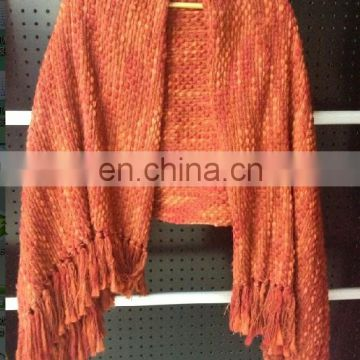 Big-belly Yarns winter acrylic poncho shawl&kick pleat scarf big scarf, wool shawl polyester scarf