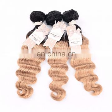 human hair ombre bundles brazilian ombre loose wave hair weaves from HY factory