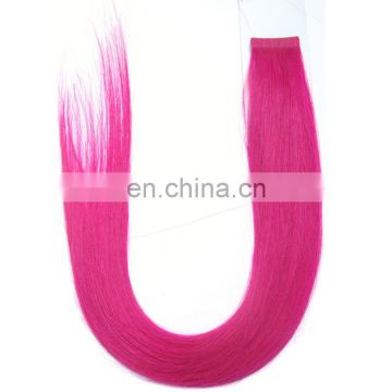 Factory direct price remy indian human hair silky straight tape in hair extensions with bright color