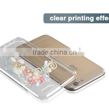 innovational technology transparent tpu 2d sublimation casefor iphone 6 plus                                                                         Quality Choice