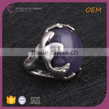 R63471A01 China wholesale jewelry silver plated with big purple stone ring designs Jewelry rings design with gems