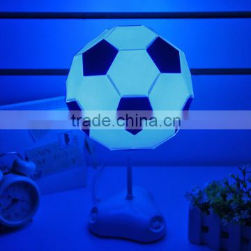 ABS+PVC football desk light USB or battery charge multicolor led night light
