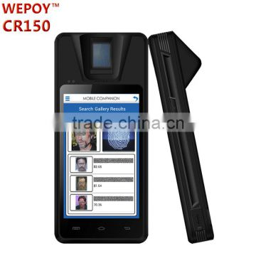 Android WIFI 3G Bluetooth GPS Handheld fingeprint reader biometric