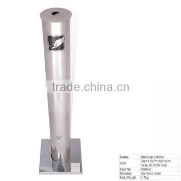 AS042 Big Ashtray Standing Floor Ashtray with Welding Stainless Steel Base for Outdoor