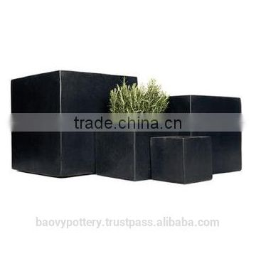 Polystone Cubic Planter, Set of 5