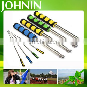 Wholesale cheap promotion fashion customized retractable tour guide flag pole