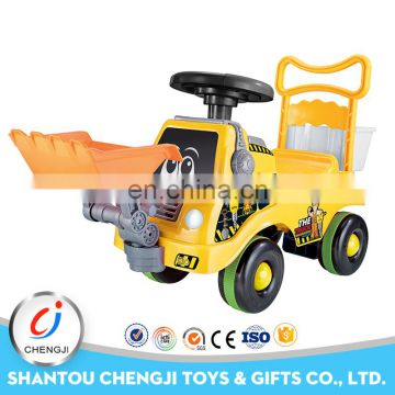 China manufacturer factory cheap yellow big sit baby walking car