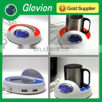 Fashion USB coffee clock cup warmer USB powered coffee cup