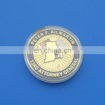 Island Hope Organization 3D challenge coin with acrylic box