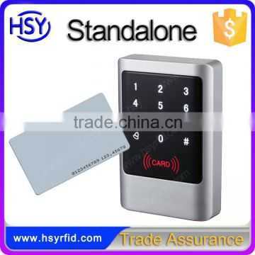 HSY-S238 Best sale single door access control system touch numeric keypad rfid standalone card reader