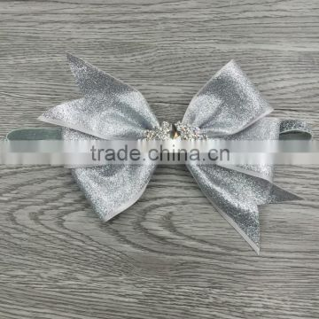 Wholesale sequins hair bow elastic baby headband girls accessories                                                                                                         Supplier's Choice