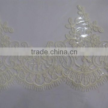 ivory embroidery lace trimming china wholesale/tokay lace,tokay lace/african lace fabric uk/swiss voile lace/