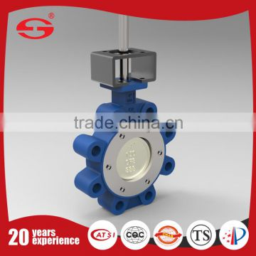 Lug Type Cast Steel Worm Gear Operated Metal Seal Clamped Sanitary Stainless Steel Butterfly Valve