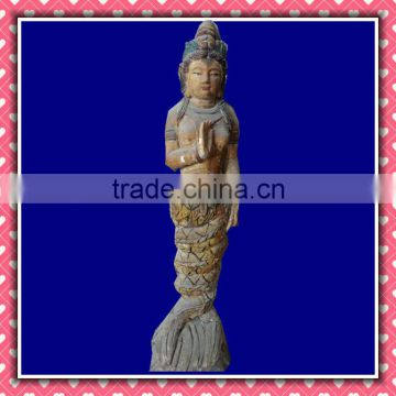Archaistic Wood Carving Buddha Crafts in Carving Crafts