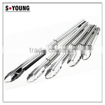 39020 Cheap Stainless Steel Kitchen Tongs BBQ Grill Food salad Tongs