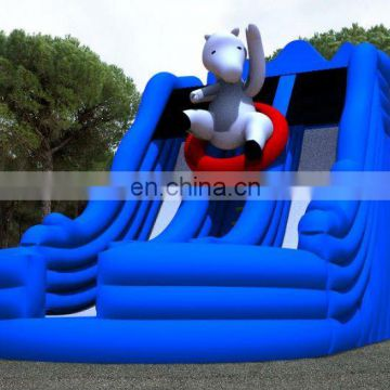 New white bear inflatable slide