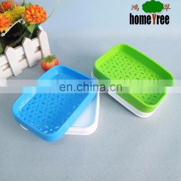 New product fashion plastic rectangle soap box