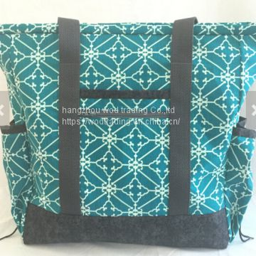 large carry on tote bag with pockets from China factory