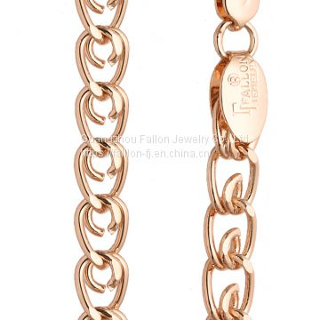 The Rose Gold Plating Charm Necklace Inlay AAA Zircon