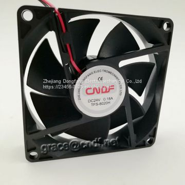 CNDF good price and quanlity 80x802x0mm cooling fan TF8020HS24