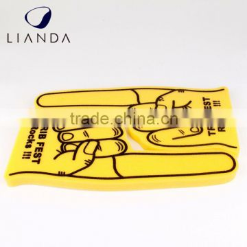pu soft foam finger,pu foam finger hand,eva foam wave cheering hand