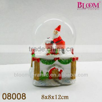 2014 Beautiful cheap santa water globe