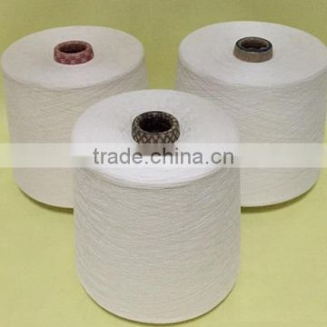 100%Raw White Cotton Polyester Blended Yarn for Knitting