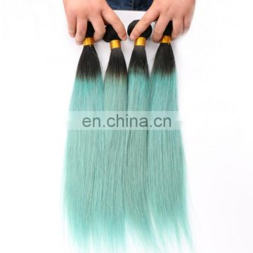 6A omber color 100% human Hair extension, straight 2 bundle unprocessed cheap