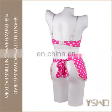 Women pink spots printed lace spandex beautiful nightgowns sex