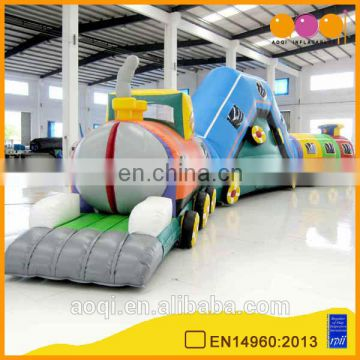 AOQI good selling gym equipment train inflatable play tunnel children toys inflatable obstacle tunnel