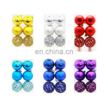 New 6cm Colorful Balls for Christmas Tree ,Hanging Party Wedding Ball