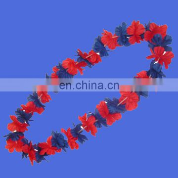 Hot sell Hawaiian Ruffled Simulated Silk Flower Leis