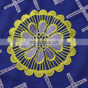 Heavy new design cotton lace fabric for party decoration