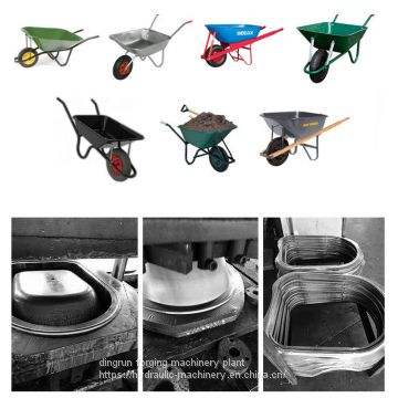 wheel barrow cold press deep drawing hydraulic press machine