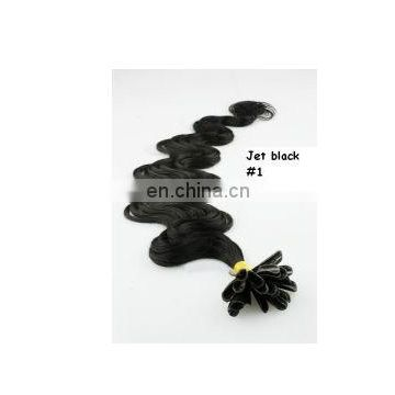 Hot selling 1# body wave Chinese virgin hair I-tip extensions,accept escrow
