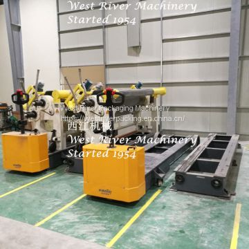 7 Ply Carton Packaging Corrugated Cardboard Production Line High Speed