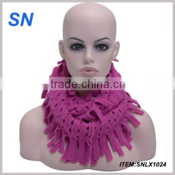 2015New hot sell funny acrylic knitted hats and scarf winter hats and scarf sets for women
