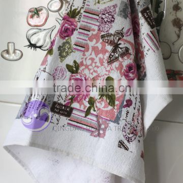 china wholesale plain white terry cloth printed cotton kitchen hand towels