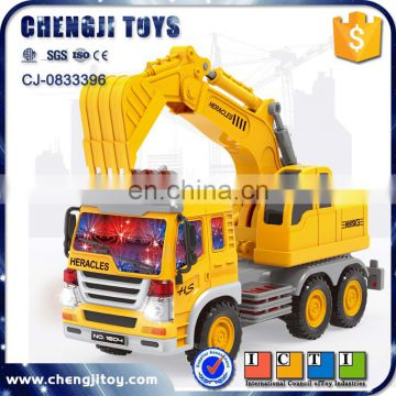 Kids plastic friction construction engineering large toy trucks