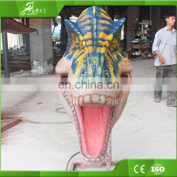 Plastic dinosaur head model for sale