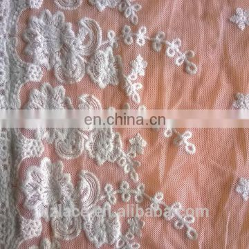 mesh chantilly lace fabric trim for wedding dress