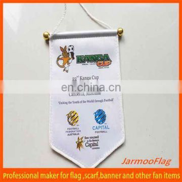 satin double sides print car hanging banner