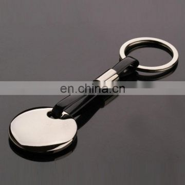 Promotional gift metal custom rubber keychains with round plate