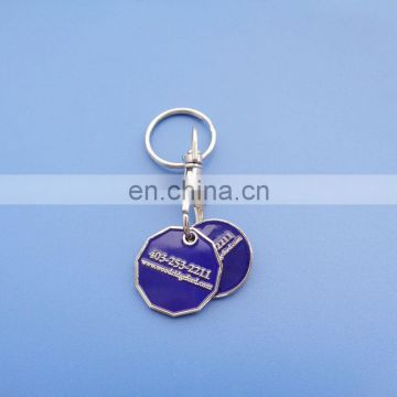 Two different coins metal double side logo design trolley coin custom logo for souvenir