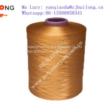 Dope dyed Polyester dty him yarn 150/48 for curtain fabric